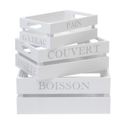 Set 3 Cajas Asfeld Blancas en Mdf Ref.BX002-ASF