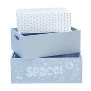 Set 3 Cajas Madera Space Azul Ref.BX001-SPC