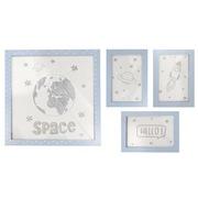 Set 4 Cuadros Space Azul Ref.FR001-SPC