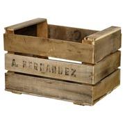 Caja de Madera Usada para Fruta Mod. Hernández 29 x 40 x 27 cm