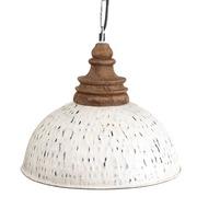 Lámpara de Techo en Hierro Blanco 35 x 35 x 35 cm