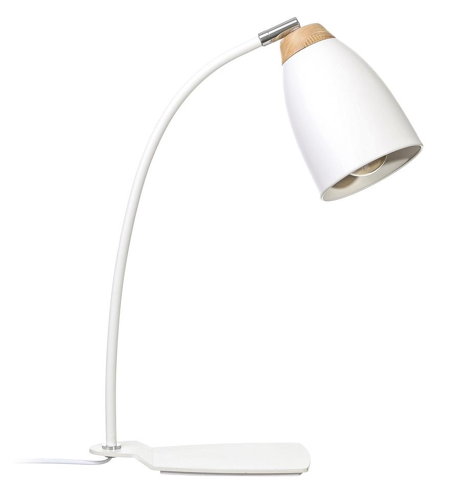 Lámpara de Mesa Flexo en Hierro y DM Blanco 39 x 12 x 47 cm