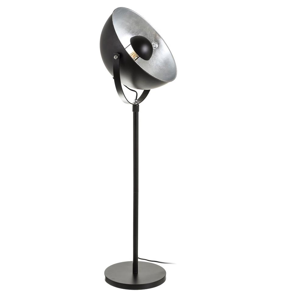 Lámpara de Suelo Industrial en Hierro Negro 40 x 40 x 165 cm