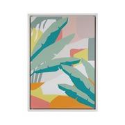 Cuadro Hojas Verdes Impreso sobre Lona 4 x 69 x 97 cm