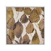 Cuadro Impresion en Lona Hojas Marrón 4 x 104 x 104 cm