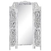 Biombo Blanco con Espejo 2 x 135 x 183 cm