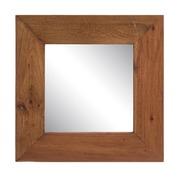 Espejo de Madera Reciclada de Java Natural 3 x 50 x 50 cm