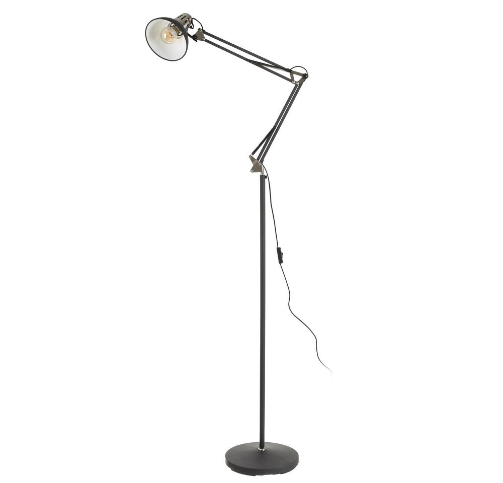 Lámpara de Suelo Flexo Industrial en Hierro 27,8 x 63,5 x 167,5 cm