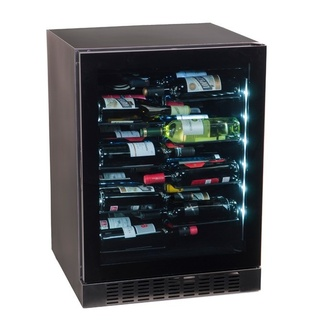 Vinoteca negra compresor encastrable 40 botellas CV-40LV