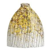 Jarrón Decorativo en Cerámica Amarillo 11 x 31 x 36 cm