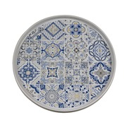 Plato de Postre Casadecor en Porcelana 21 x 21 x 2 cm