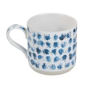 Taza Camuflaje Manchas Azules en Porcelana 12 x 9 x 9 cm