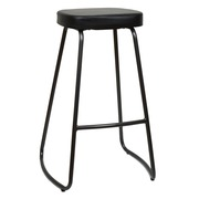 Taburete Bar Industrial Apilable Negro