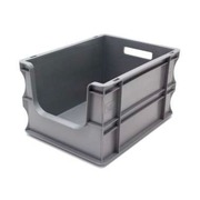 Caja Eurobox Gris Frente Abierto 40 x 30 x 23 cm Ref.SPK 4322OF
