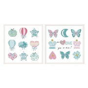 Cuadro Impresión en Lienzo Mariposas 3 x 30 x 30 cm