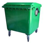 Contenedor Basura en PEHD Verde 4 Ruedas 1100 litros