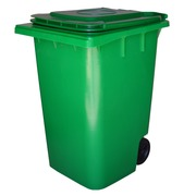 Contenedor de Basura en PEHD Verde 140 litros