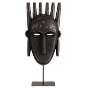 Figura de Máscara Etnica Poliresina 10 x 22 x 48,5 cm
