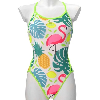 Daale Swim Bañador Mujer Pineapples and Flamingos