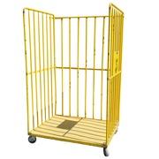 Jaula de Transporte Amarilla Usada 1,20 x 1 x 1,99 m