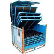 Contenedor de Metal Usado 100 x 120 Azul con Bandejas