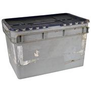 Caja de Plastico Apilable Gris 40,5 x 60 x 37,5 cm Ref.R077