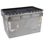 Alquiler Caja Apilable de Plastico Gris 40,5 x 60 x 37,5 cm Ref.R077