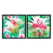 Cuadro Aves Impreso en PVC Multicolor 3 x 39 x 39 cm