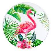Cuadro Flamenco Impreso en DM Rosa Verde 2,5 x 80 x 80 cm