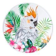 Cuadro Cacatua Impreso en PVC Multicolor 2,5 x 80 x 80 cm