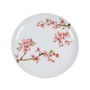 Plato de Postre Sakura en Porcelana 19 x 19 x 2 cm
