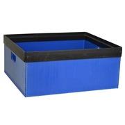 Caja Usada de Policarbonato Azul 51,5 x 44,5 x 23 cm