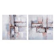 Pintura Abstracta en Lienzo con Bastidor de Pino 2,8 x 40 x 40 cm