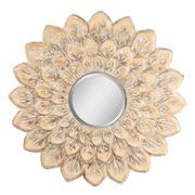 Espejo de Pared Redondo en Hierro Oro 2,5 x 56 x 56 cm