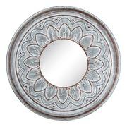 Espejo de Pared Gris Blanco 4 x 59,5 x 59,5 cm