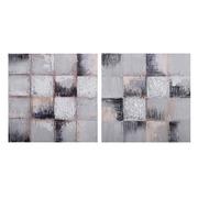 Pintura Abstracta en Lienzo con Bastidor 2,8 x 40 x 40 cm
