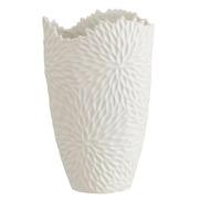Jarrón Decorativo en Cerámica Blanco Mate 21,2 x 22 x 39,5 cm