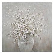 Pintura Flores en Lienzo con Bastidor 4 x 100 x 100 cm