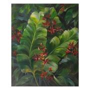 Pintura de Hojas Verdes en Lienzo 4 x 80 x 100 cm