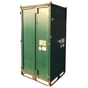 Contenedor Metálico Usado Apilable Verde 100 x 120 Ref.R074