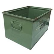 Caja Usada de Metal Verde 35,5 x 50 x 29,5 cm