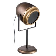 Lámpara de Mesa en Metal Oro 25 x 27 x 48,5 cm