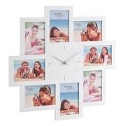 Portafotos Reloj en DM Blanco 3,5 x 51 x 51 cm
