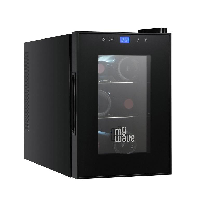 VInoteca Negra 6 botellas Clase energética A MyWave Wine Tasting 6B