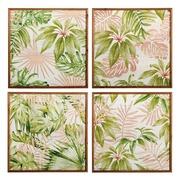 Cuadro Impresión Hojas en Madera 2 x 60 x 60 cm