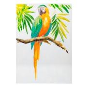 Pintura Papagayo en Lienzo Técnica Mixta 3 x 70 x 100 cm