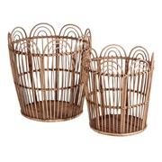 Set 2 Cestos en Bambú 38 x 38 x 41 cm