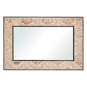 Espejo de Pared en Madera Negro Natural 4,5 x 120 x 80 cm