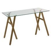 Escritorio Desk Tablero en Cristal Templado 60 x 120 x 75 cm