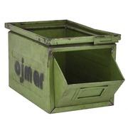 Gaveta Metálica Usada Verde 22 x 37,5 x 20,5 cm